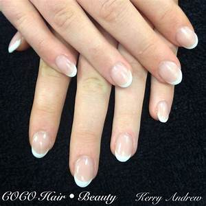Sculptured French Round Acrylic Nails Nail, Round Acrylic ...