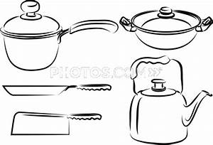 Kitchen Tools Drawings Kitchen Utensils Drawings Vector ...