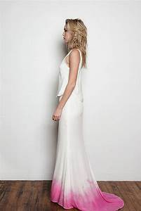 beyond white 15 ombre wedding gowns brit co With pink ombre wedding dress