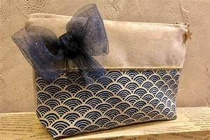 Pochette Femme Bleu Marine : pochette femme n ud bleu marine ~ Teatrodelosmanantiales.com Idées de Décoration