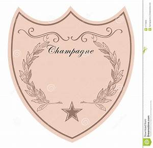 champagne label stock illustration image of certificate With champagne bottle label template