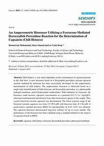 Pdf  An Amperometric Biosensor Utilizing A Ferrocene