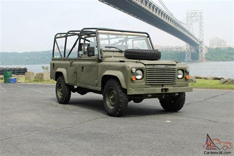 land rover military defender land rover x mod defender 110 military vehicle