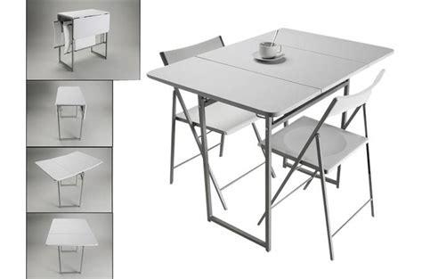 table cuisine pliante but table pliante et 2 chaises blanches en bois kingston
