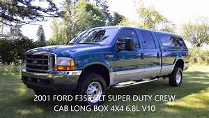 2001 Ford F350 Xlt Crew Cab Long Box 4x4 V10 1 Owner