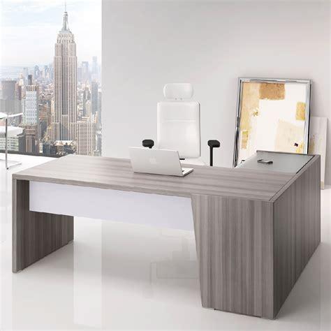 bureau angle droit bureau angle direction bois cèdre gris clair dimensions