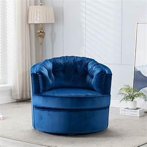 Velvet, Swivel, Shell, Chair, Modern, Velvet, Accent, Upholstered, Chair, Round, Ergonomic, Office, Chair