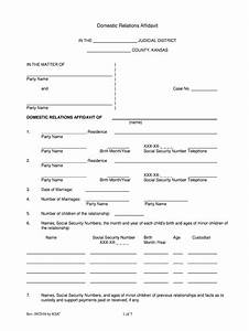 2016 Form Ks Domestic Relations Affidavit Fill Online