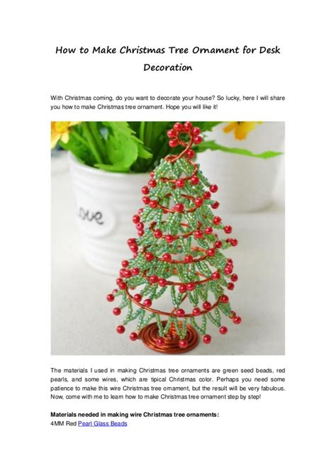 decorate your desk for christmas how to make christmas tree ornament for desk decoration