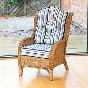 Alfresia, Conservatory, Furniture, Denver, Wicker, Reading, Bedroom, Chair, With, Cushion