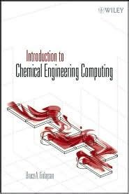 introduction  chemical engineering computing  bruce