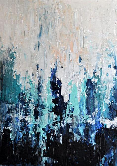 Original Textured Abstract Painting Impasto Seascape