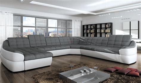 canapé d angle moderne canapé d 39 angle en tissu microfibre écocuir infinity xl
