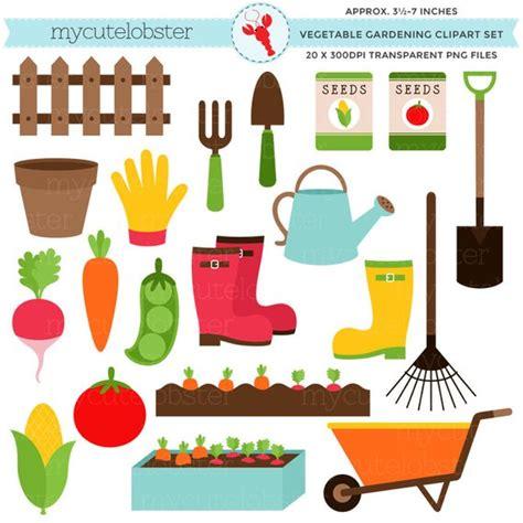 Vegetable Gardening Clipart Set Garden Clip Art Carrots