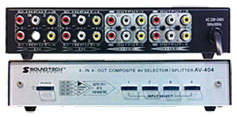 commutateur switch selecteur audio rca jack