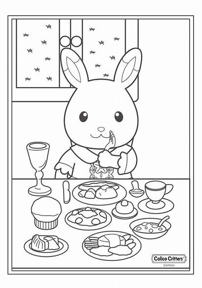 Sylvanian Coloring Families Calico Coloriage Famille Critters