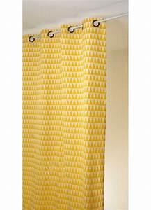 Rideau Jaune Et Gris : rideau en jacquard imprim s triangulaires noir et blanc roses et orange ~ Teatrodelosmanantiales.com Idées de Décoration