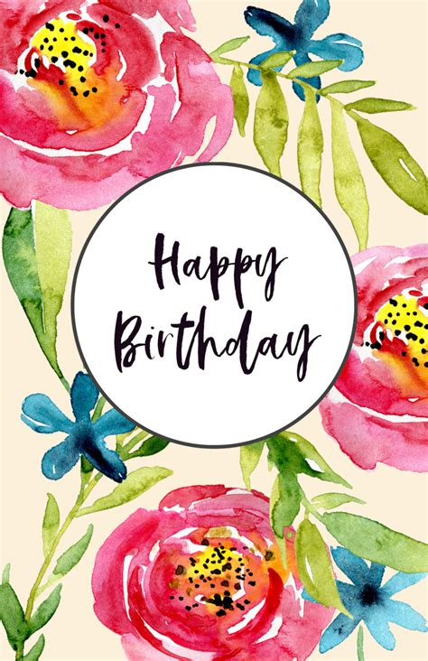 Birthday Card Image by Free Printable Birthday Cards Paper Trail Design