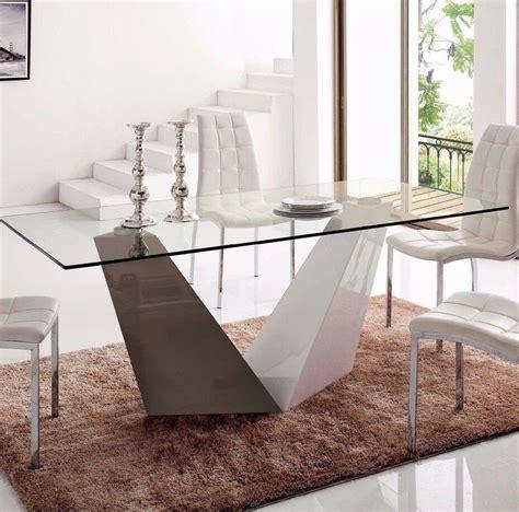 pc  luxury modern brown white glass dining room set