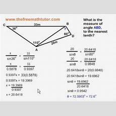 Multiplestep Sine Law And Cosine Law Problems  Example 3