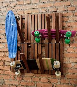 Hang your skateboards in style