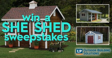 homes  gardens diy  shed sweepstakes