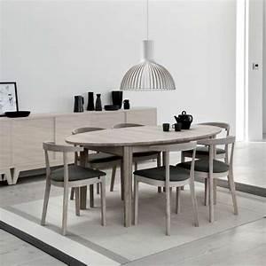 table de salle a manger ovale scandinave en bois avec With meuble de salle a manger avec table de salle a manger ronde en bois