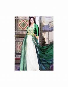 Robe De Mariage Marocaine : robe marocaine de mariage verte col officier pas cher ~ Preciouscoupons.com Idées de Décoration