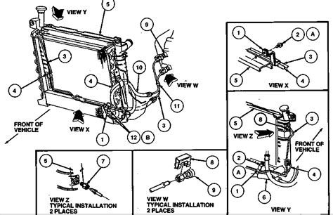 Ford Taurus Engine Diagram Automotive Parts