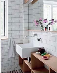 Joint De Carrelage Sol : carrelage salle de bain blanc joint gris sol noir et blanc salle de bain salle de bain ~ Dode.kayakingforconservation.com Idées de Décoration