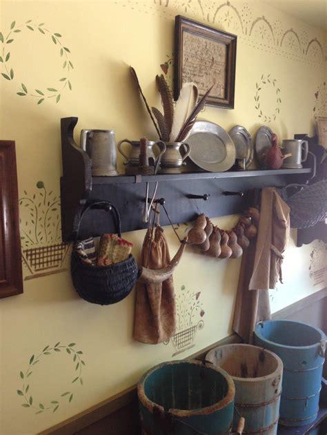 Primitive Kitchen Wall Decor by Best 20 Primitive Shelves Ideas On Prim Decor