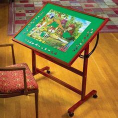 puzzle table      closed cabinet