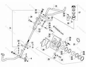 Arctic Cat Atv 2005 Oem Parts Diagram For Auxiliary Brake