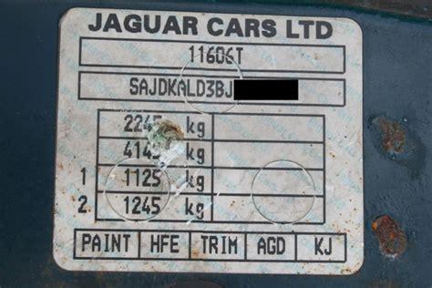 paint code number plate paint code sticker jaguar jaguar enthusiasts