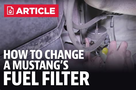 1996 Mustang Fuel Filter by Changing Fuel Filter 1996 Mustang Gt Owner Manual