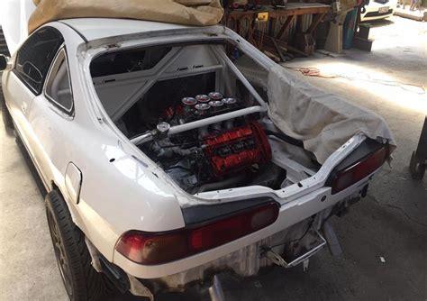 honda integra  nsx  engine conversion  rwd