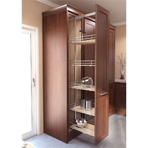 Pantry Cabinet Pull Out System with EZ Close Dampening