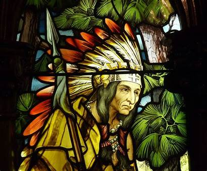 Native American Indian Glass Stained Window Wallpapers