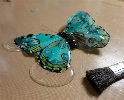 resin crafts resin crafts envirotex lite as a glaze the feather butterly