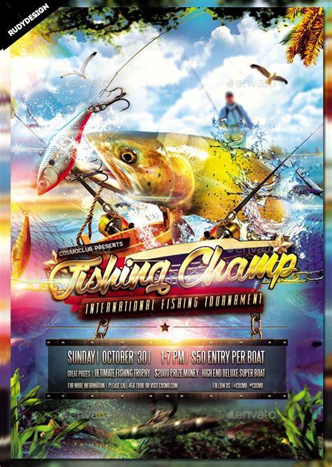 fishing flyer templates  premium