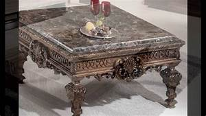 Granite top coffee table sets youtube for Granite top coffee table sets