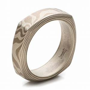 custom men39s two tone rose gold and platinum band 100819 With square mens wedding rings