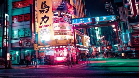 tokyo night  beautiful wallpaper