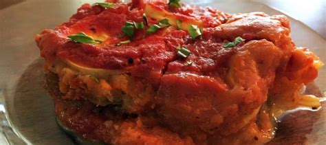 barde cuisine dairy free eggplant spinach lasagna food experience
