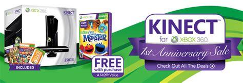 gamestop offering st anniversary xbox  kinect bundles