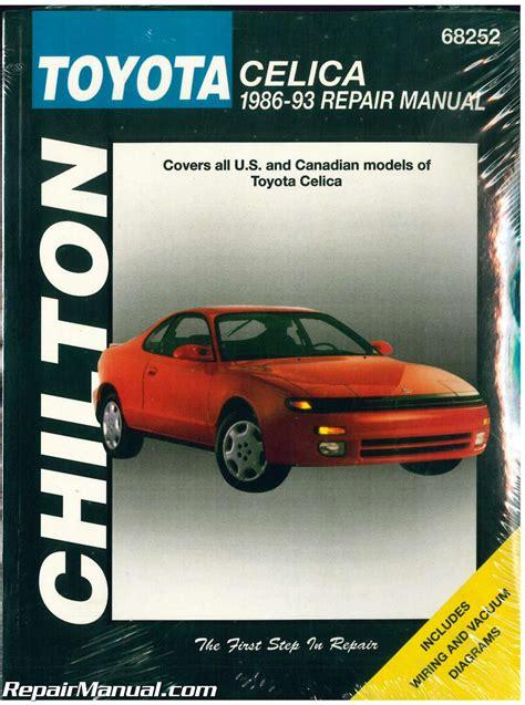 free service manuals online 1993 toyota celica seat position control chilton toyota celica 1986 1993 repair manual
