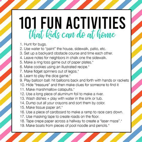 fun easy activities kids    home
