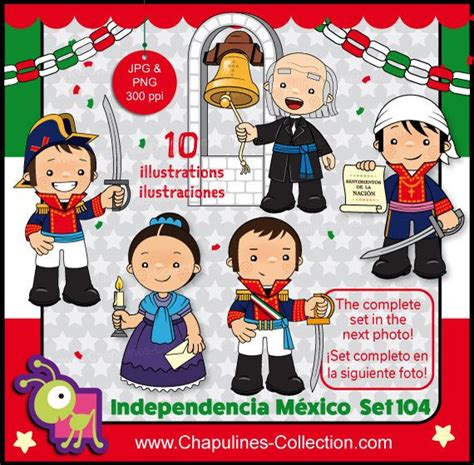 60% off Mexican Independence clip art, Heroes, Mexico ...