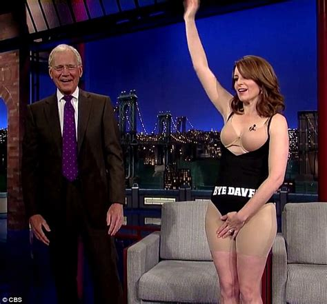 tina fey fan mail tina fey strips in honour of david letterman s impending