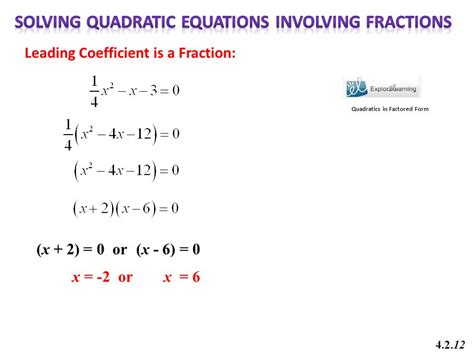 Math 201 Chapter 4 Quadratic Equations  Ppt Download